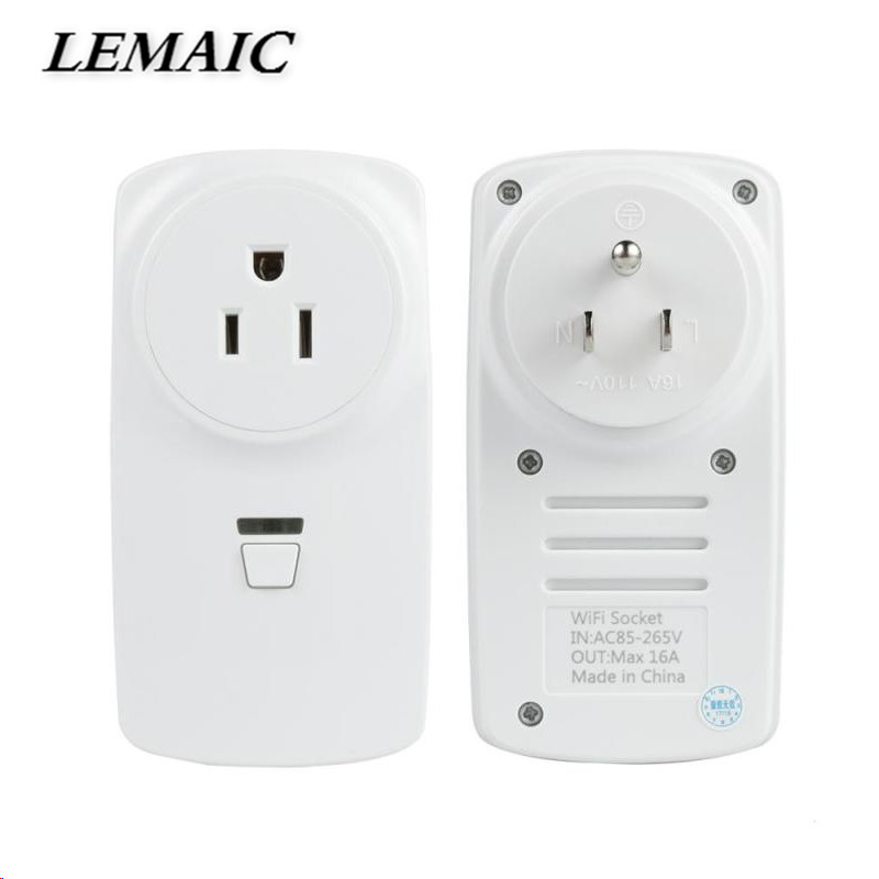 цены LEMAIC WiFi Smart US Plug Smart Home Socket Work with Amazon Alexa Google Home Schedule Function App DIY Remote Control Switch