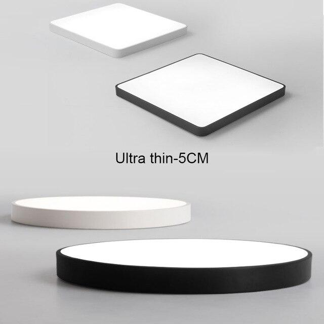Ultra-thin 5cm simple modrn LED ceiling lights for living room bedroom iron black/white ceiling lamp indoor lighting fixture