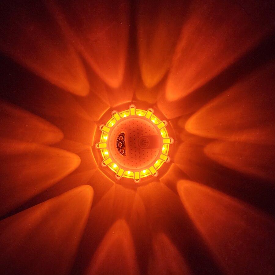 Geoeon 2 Pièces Led Lumière De Secours Avertissement Veilleuses Sécurité Route Flare Lumières De Secours Base Pour Voiture Camion Bateau Lumière Led D517 Pure Blancheur