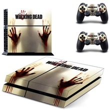 The Walking Dead PS4 Full Faceplates Skin Console & Controller Decal Stickers for Sony PlayStation 4 Console and Two Controller