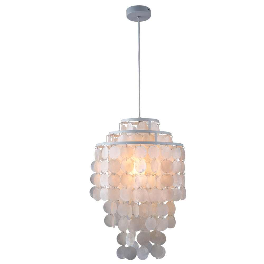 Modern loft 3 kinds style natural seashell pendant lamp lustres fixture E27 Lights Shell lamps for kitchen living room bedroom