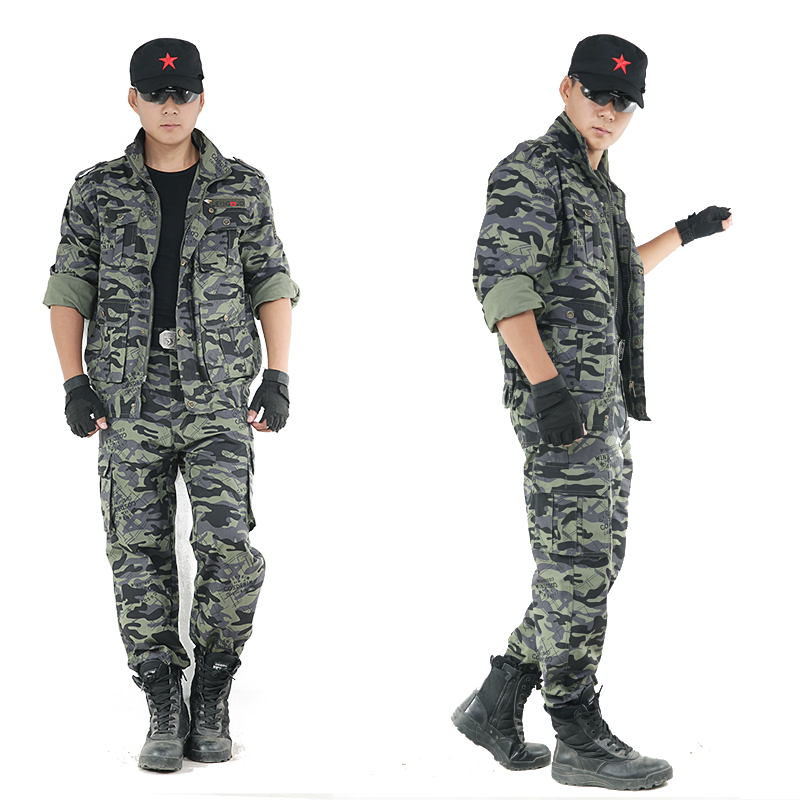 Outdoor Mens Hunting Clothes Cotton Camouflage Suit Outfit Mountaineering Jacket+Pants Military Tactical Combat Army Uniforms outdoor angel army fans military clothing camouflage suit wear cotton uniforms work service tactical training set jacket pants