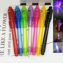 цена на Korean Stationery Creative Magic UV Light Pen Invisible Ink Pen Funny Plastic Marker Pen School Office Supplies For Kids Gifts