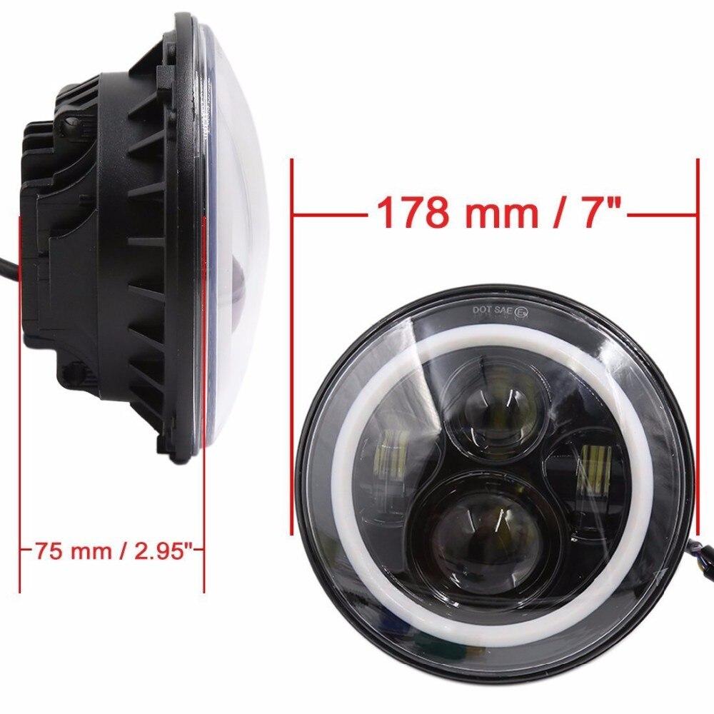 7 '' LED Avtomobil Motosiklet DRL Duman Yüngül Mələk gözləri - Avtomobil işıqları - Fotoqrafiya 2