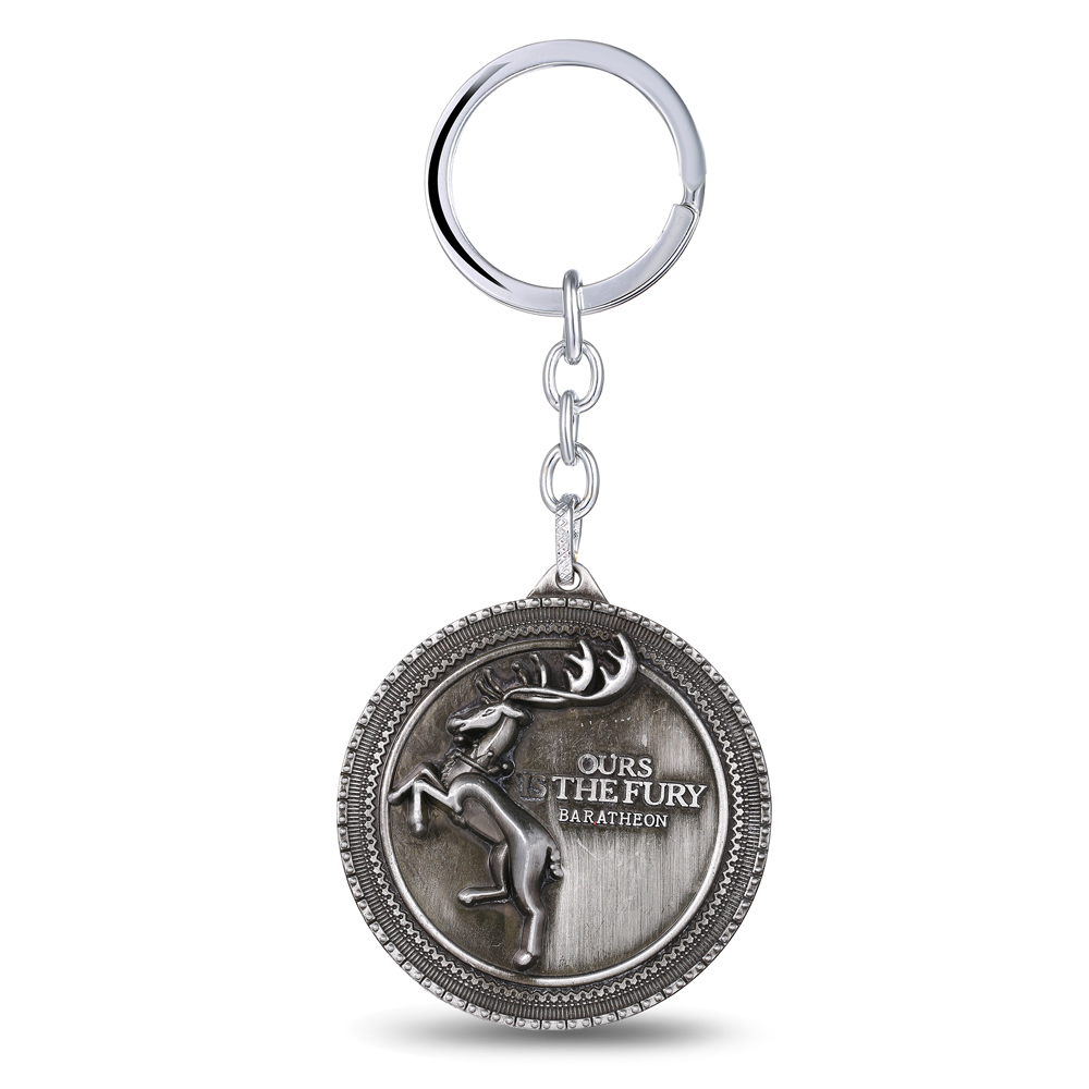MS JEWELS Game of Thrones Key Chain House Baratheon Logo Metal Key Rings For Gifts Keychain Chaveiro