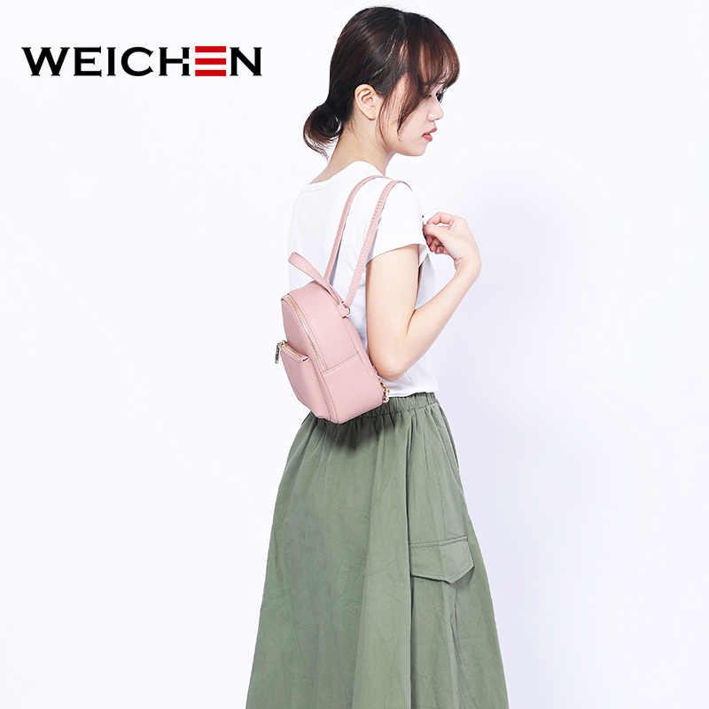 WEICHEN 2019 Новый Дизайнерский Модный женский рюкзак мини Мягкий сенсорный многофункциональный Маленький Рюкзак Женская Дамская сумка на плечо для девочки