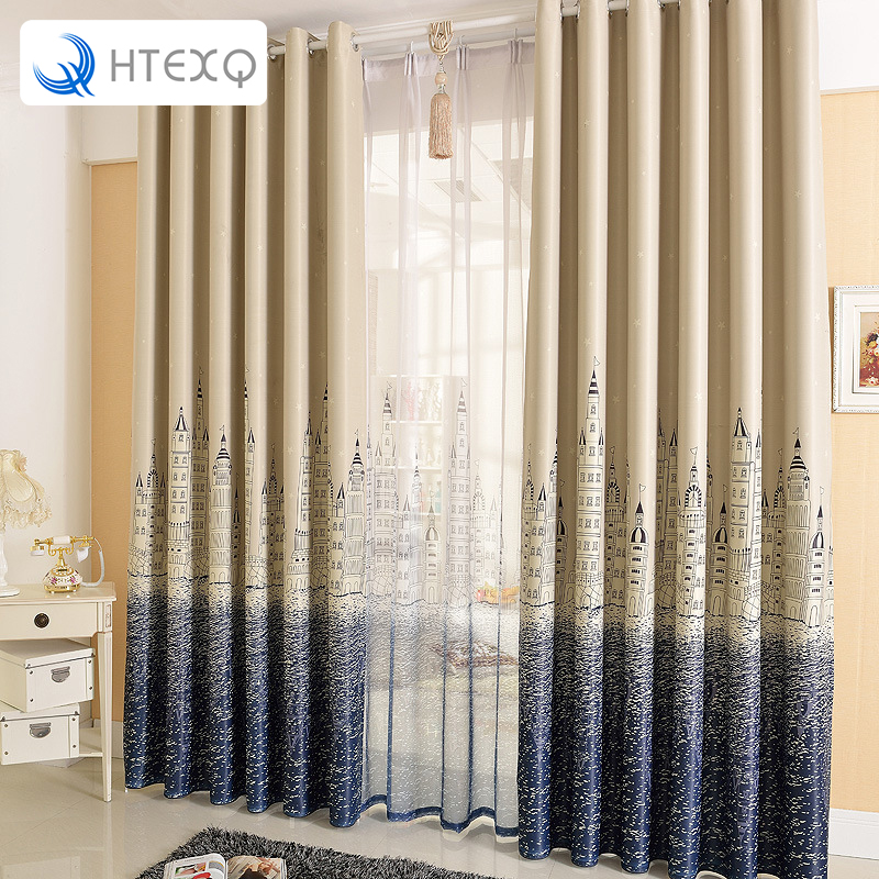 2016 New Style Mediterranean Lighthouse Curtain Cloth For