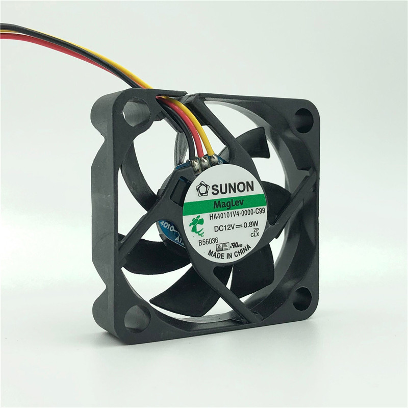 40mm 12V Centrifugal Fan Ultra Silent 0.065A 16dBA 4600RPM MagLev Bearing HA40101V4-0000-C99 40x40x10mm Dc 4010 Fan Cooler