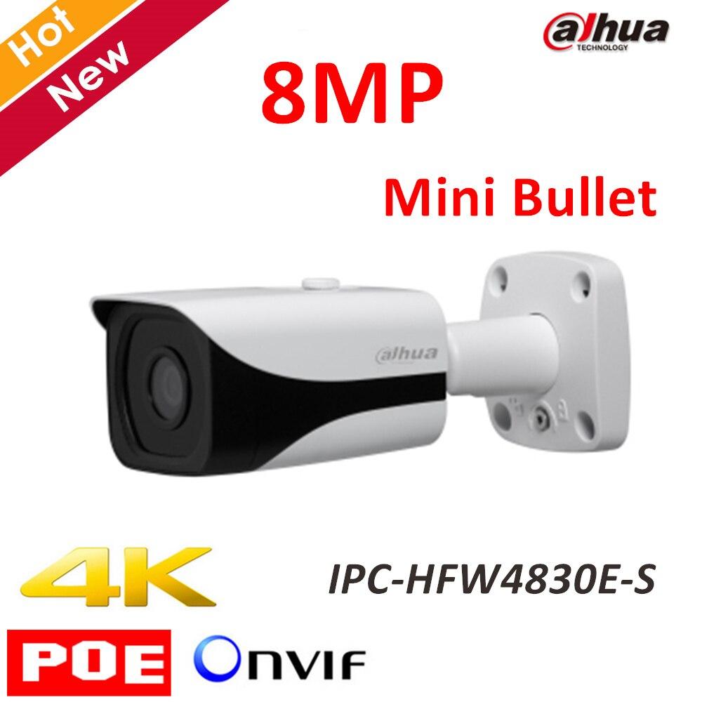Original Dahua 4K IPC-HFW4830E-S Ultra HD 8MP built-in sd card slot H.265 IP67 IR40M POE Mini Bullet Network IP Camera dahua 4k ipc hfw4830e s ultra hd 8mp built in sd card slot h2 65 ip67 ir 40m poe mini bullet network ip camera