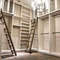 3.3ft 6.6ft 9.9ft 13.2ft Rústico Tubo Redondo Preto Escada Da Biblioteca Do Celeiro de Correr Hardware