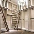 3.3ft 6.6ft 9.9ft 13.2ft Rustico Nero Tubo Tondo Scorrevole Barn Scaletta Biblioteca Ferramenteria e attrezzi