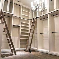 3.3ft 6.6ft 9.9ft 13.2ft Rustik Siyah Yuvarlak Boru Sürgülü Ahır Merdiven Kütüphane Donanım