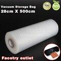 28 cm x 500 cm 1 Rolo Fresco-mantimento saco de vácuo selador sacos de armazenamento de alimentos película de embalagem manter fresco até 6x mais