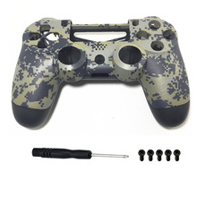 PS4 Replacement Camo Shell Camouflage Housing Case Cover Skin Front+Back Protector for Playstation 4 DualShock V1 Controller