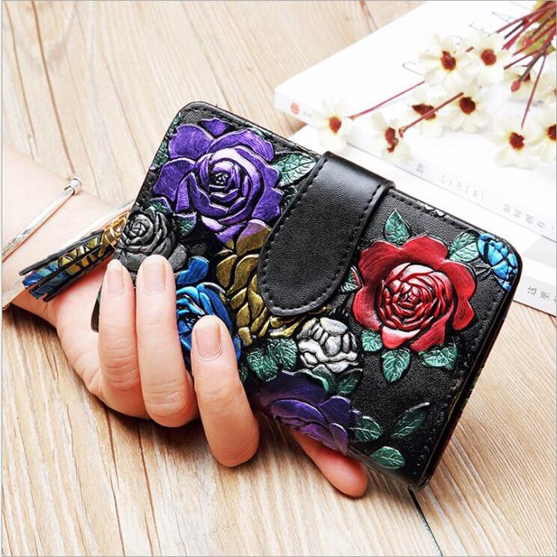 все цены на Large Capacity New 2018 Fashion Women Wallet Short Purses Female Clutch Genuine Leather Credit card Holder Solid Zipper Bag