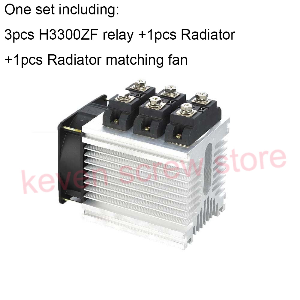 H3300ZF-3 three phase DC to AC 300A 4-32VDC industrial grade solid state relay set/SSR set Not incluidng tax ac 440v 60a three 3 phase four 4 wire 3p 4w ceramic industrial socket plug set page 5