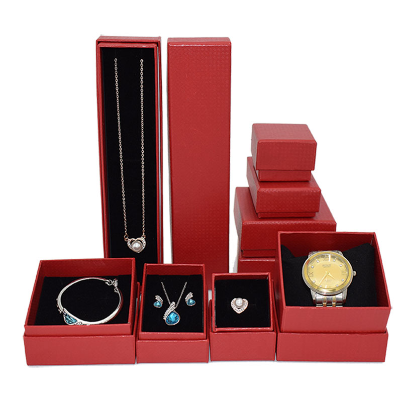 New Jewellry Boxes Sets, Red Knitted Color Paper Quality Choices Custom/Wholesale/Retail Organizer Ring Bracelet Necklace Cases
