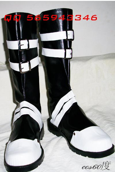 D.Gray-man Yu Kanda Leather Cosplay Shoes Boots S008