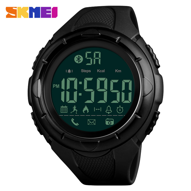 73309c33fe3 New Men Fashion Smart Watches SKMEI Brand Outdoor Sport Waterproof Watch  Remote Camera Calorie Bluetooth Watch Relogio Masculino