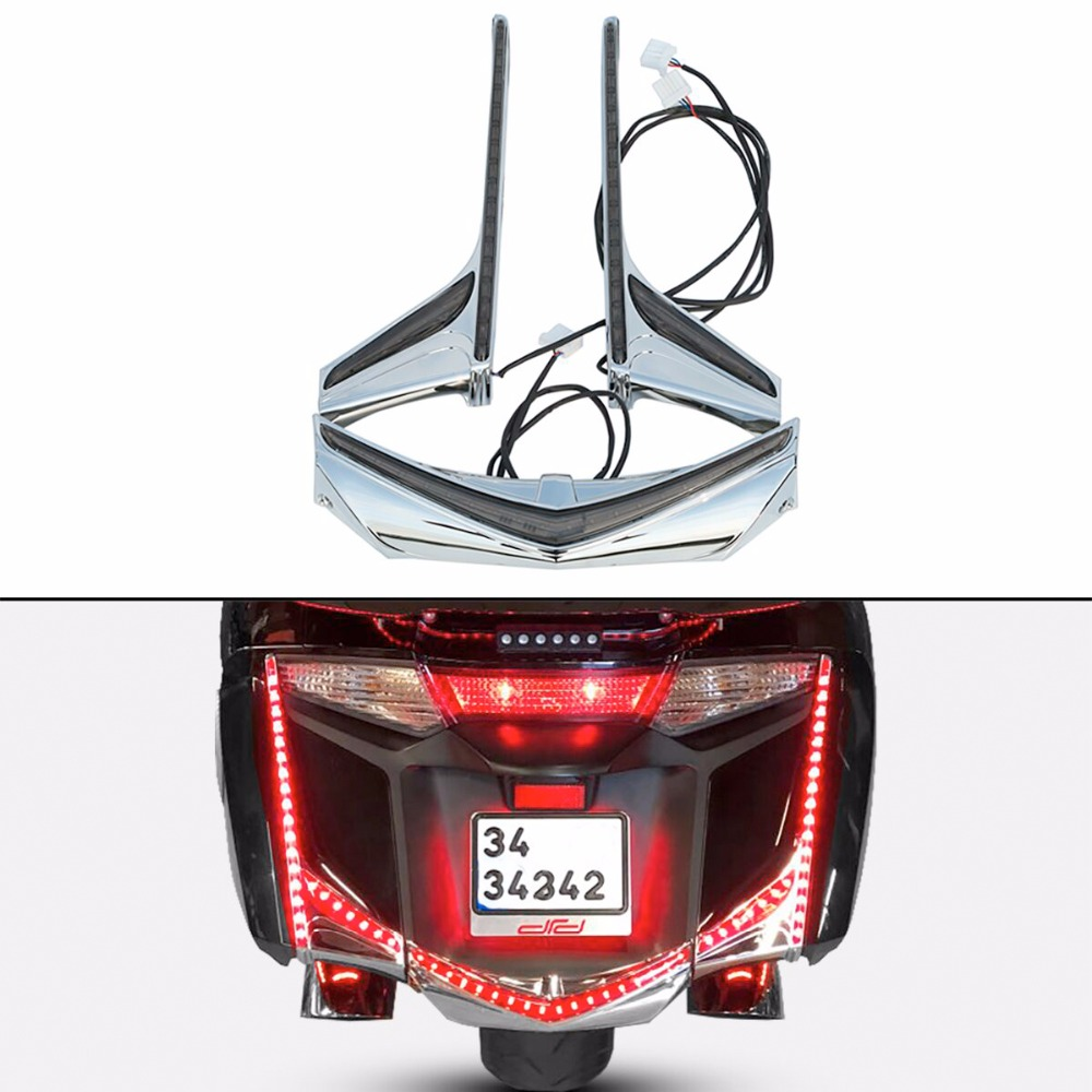 Fender Tip Accent Vertical LED Light Strips For Honda Goldwing GL1800 2012-2017 F6B 12-17 2013 2014 2015 2016 saddlebag accent swoop led light for honda goldwing gl1800