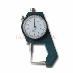 Thickness Curved Tip Head Dial Gauge 0-20mm Leather Thickness Metal Tester Measure Leathercraft Tool Measurement Craft