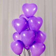 Purple Heart Balloon 50pcs/lot10 Inch Thick helium Latex Wedding Balloons Birthday Party Decoration ballon decoration anniversai