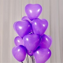 hot deal buy wedding ballons 50pc/lot 10inch light purple heart balloons birthday party decorations baloons valentine's day ballons