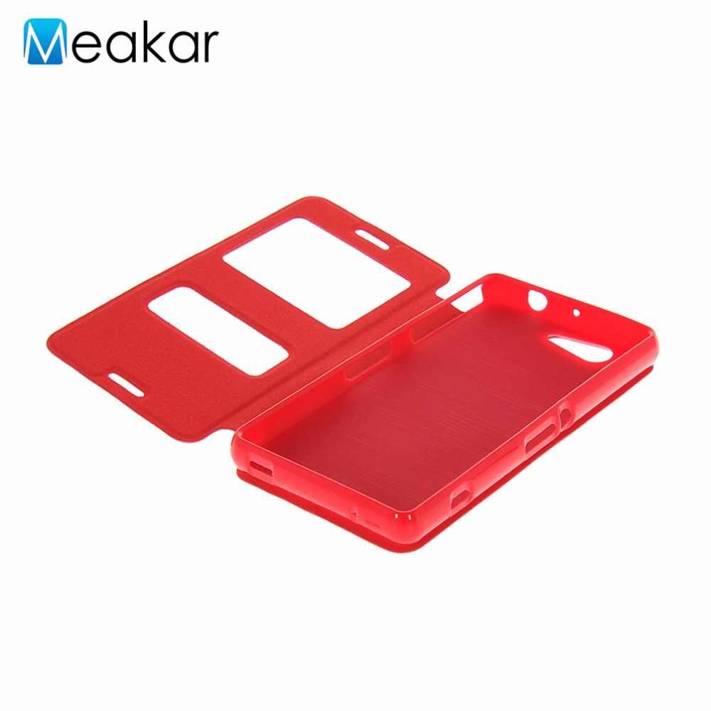 Чехол из искусственной кожи 4,6 для Sony Xperia Z3 Compact, чехол для Sony Xperia Z3 Compact Z3 Mini, задняя крышка для сотового телефона