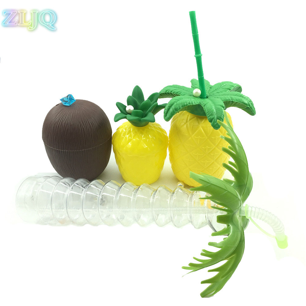 Christmas Tree Made Of Plastic Cups: ZLJQ Pineapple Coconut Cup Summer Beach Creaive Coconut