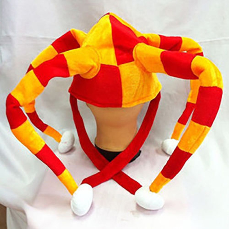Football Fans Hat Party Cap Color Patch Clown Cheer Leader For World Cup