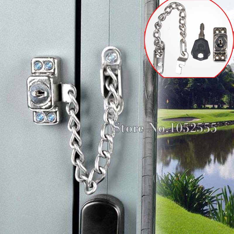 High Quality Lockable Window Security Chain Lock Door Restrictor Children Safety Lock Security Chain Lock With Keys K85 t handle vending machine pop up tubular cylinder lock w 3 keys vendo vending machine lock serving coffee drink and so on