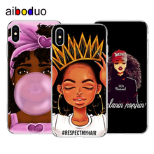 Silicone Soft Shell Cover Fashion Black Girl phone Case For iphone 5s se 6 6s 7 7plus 8 8plus X XS XR XSMAX