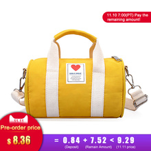 Canvas Children Women's Travel Bags Yoga Gym Bag Mini for Fitness Shoes Handbags Shoulder Crossbody Sac De Sport Pack XA571WA