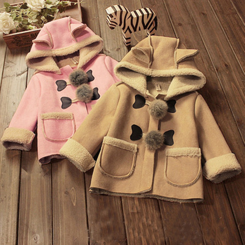 Toddler Boys Girls Lamb Wool Outwear Hooded Jacket 2018 Autumn Girls Warm Clothes Fashion Girl's Jacket Coat Sheepskin Coats sheepskin coat ad milano sheepskin coat