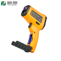 FUJIWARA Non Contact IR Infrared Thermometer Laser Temperature Measurement Instruments Temperature Analysis Test Gun Digital LCD