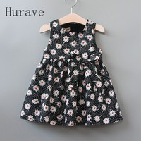 2 7y Girls Clothing Summer Girl Dress Children Kids Floral Dress Back Dress Girls Cotton Kids