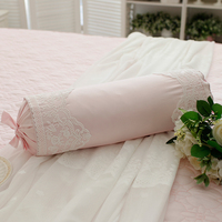 Elegant roll cushion wedding decoration home textile cute candy cushions embroidery lace pillow bed accessory sofa car pillows