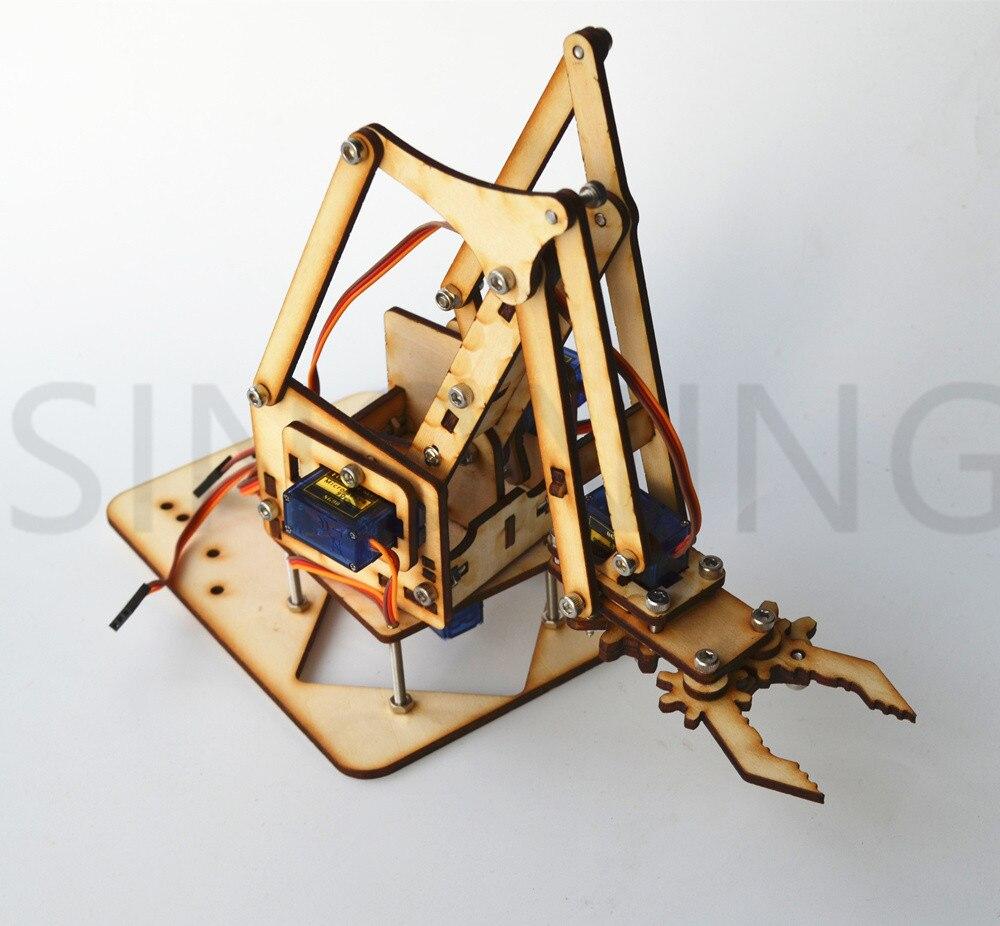 4 DOF wood robotic arm sg90 Servo FOR arduino raspberry pie SNAM1500