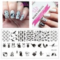 1Pc BORN PRETTY Nail Art Stamping Plates Animal Theme Nail Stamp Stamping Template Image Plate Stencil Nails Tool BP-L025