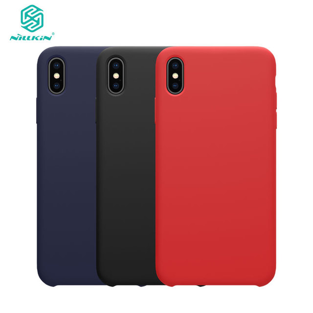 super popular 2b172 9993b US $9.35 22% OFF|For Apple iphone X XR case NILLKIN Flex Pure CASE Slim  Soft Liquid Silicone Rubber Shockproof Phone Case For iphone XS MAX case-in  ...