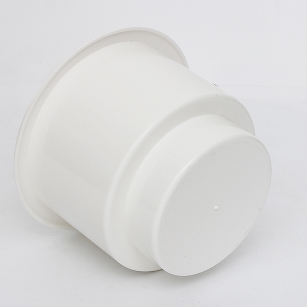 White No Holes Cup Drink Bottle Holder Car Boat Motorhome Smooth Finish