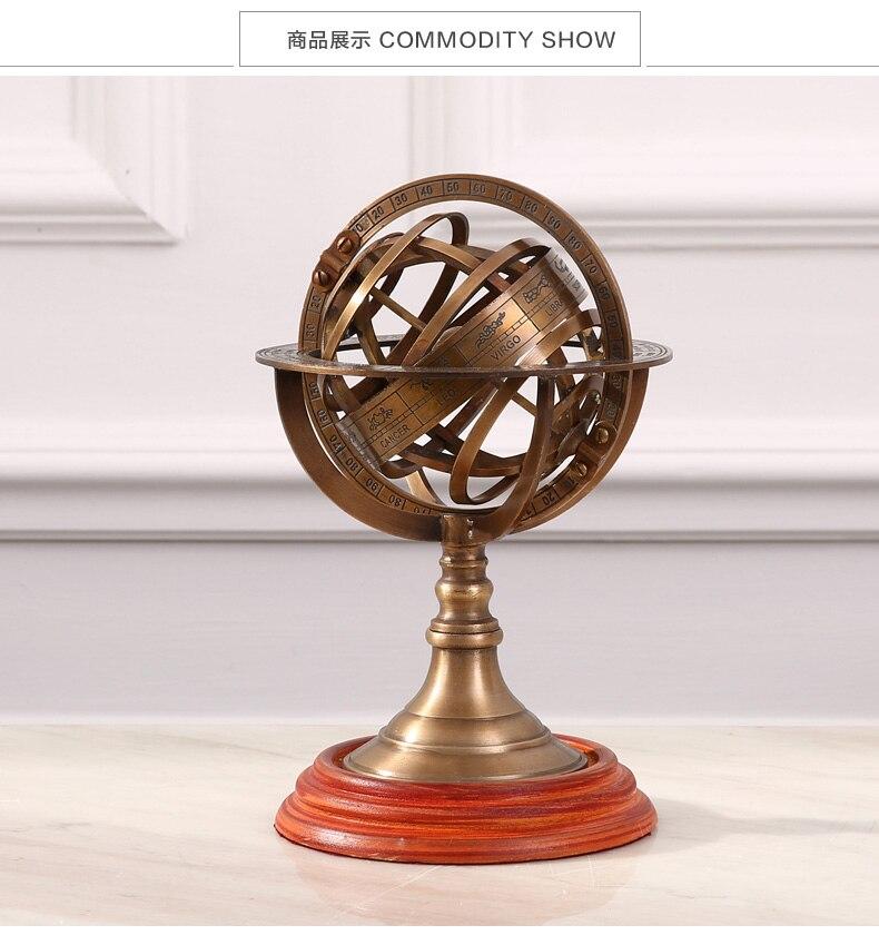 Americano mobiliário doméstico jóias ornamentos bronze globo