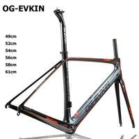 T800 Carbon Racefiets Frame 3 K Di2 en Mechanische carbon Road frame 3 K 49 52 54 56 58 61 cm BB68 Schilderen 1-1/8