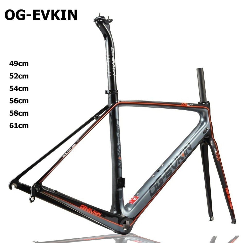 T800 Carbon Road Bike Frame 3K Di2 and Mechanical carbon Road frame 3K 49 52 54 56 58 61cm BB68 Painting 1-1/8-1-1/2 Frameset цена