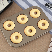 Carbon Steel Doughnut Mould DIY 6 Holes Cake Pans For Chocolate Candy Pastry Tray Decorating 3D Mold Baking Tools