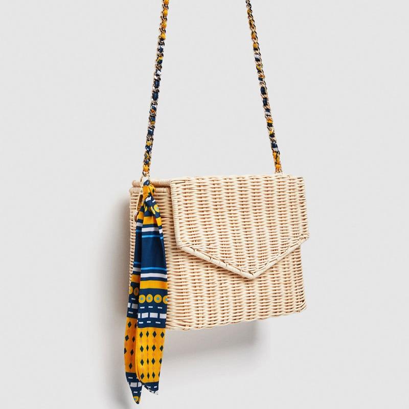 Hot Summer Beige Black Women Shoulder Bag Hand Made Exquisiteness Straw Bags Woven Flap Sweet Pastoral Rattan Girls Bag tahari women s woven dress pant 4p taupe beige