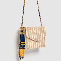 Hot Summer Beige Black Women Shoulder Bag Hand Made Exquisiteness Straw Bags Woven Flap Sweet Pastoral