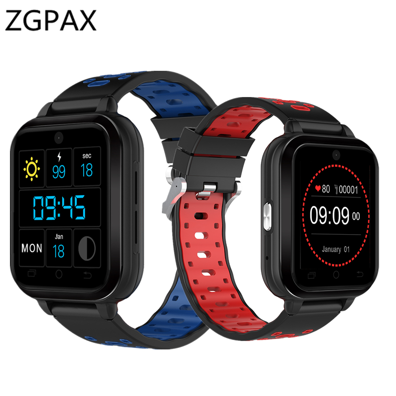 ZGPAX 2018 New smart watch Z1 PRO MTK6737 Android 6.0 1G+8G smartwatch support 4G+WiFi+GPS Waterproof watch men heart rate T15 4g gps android 6 0 smart watch m5 mtk6737 heart rate monitor support sim card camera business smartwatch for men women 2018 gift