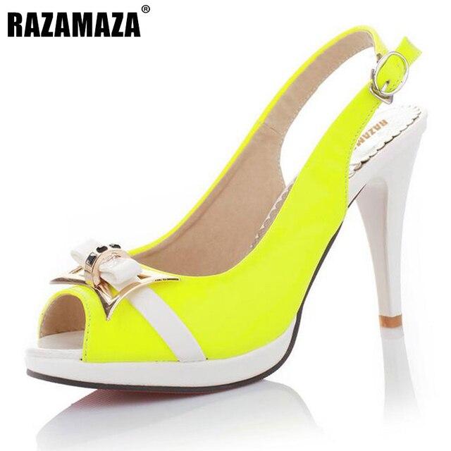 VulusValas calza las Sandalias de tacón alto Sexy punta abierta correa  trasera Oficina calzado moda plataformas 61645b6349a0