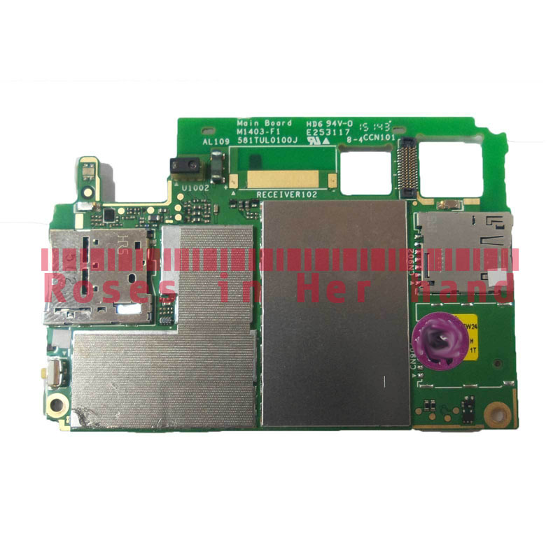 Function OK Original Motherboard Unlocked For Sony Xperia M4 Aqua  Single-SIM E2303 E2353 E2306 Logic Mother Circuit Board